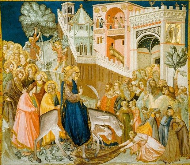 Jesus Enters Jerusalem - Pietro Lorenzetti
